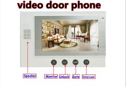 Wholesale door phone for home - 701 hot sale home alarm monitoring video door phone with 7'' TFT LCD screen for villas