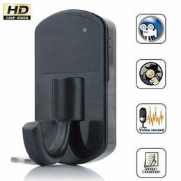 Wholesale Human Senses - HD 1280x720P Action Activated Human Body Sensing Clothes Hook Camera Hanger Spy Camera DVR long remote distance