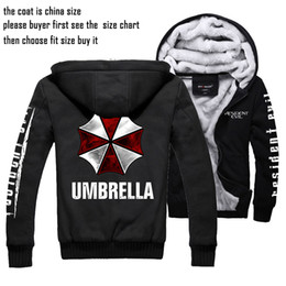 Wholesale Umbrella Sleeves - Resident Evil Thickening cotton-padded jacket Umbrella winter warm Flannel Hoodie Coats Soft Cashmere Sweatshirts Unisex New