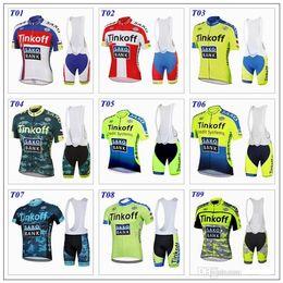 Wholesale Saxo Bank Women - Hot Selling Top Quality! Pro Team Saxo Bank Think Off Cycling Clothing Men Women Summer Short Sleeve Cycling Jersey+Cycling Bib Shorts Set
