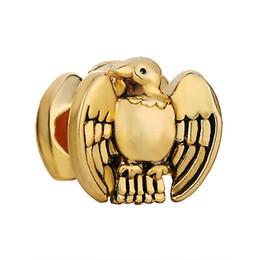 22k chapado en oro online-22K Chapado en oro Eagle Birds Lucky Charms en Chapado en oro Lucky Europa Bead Fit Pandora pulsera