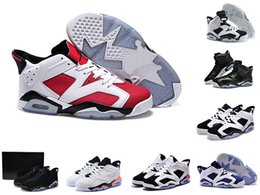 Wholesale Pc Mid - 2017 Highest Quality air retro 6 XII basketball shoes ovo white GS Barons wolf grey Gym red taxi playoffs gamma french blue sneaker 36-46