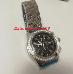 Wholesale Black Evolution - Luxury Watches Mens Evolution 44mm Quartz Movement Stainless Steel 5.50 Carat Diamonds Bezel Fashion Brand Men's Watch Wristwatch