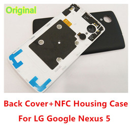 Wholesale Nfc Battery - Original Battery Case For LG Google Nexus 5 Back Cover Housing Door Case With NFC Chip for nexus 5 D820