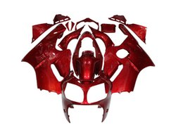 Wholesale Zx12r Red Body Kit - RED Fairings For KAWASAKI NINJA ZX12R 2000 2001 ZX 12R 00 01 ZX-12R 2000-2001 00-01 Press Mold Motorcycle Parts ABS Plastic Body Kits