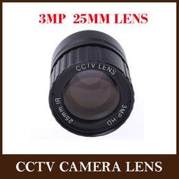 Wholesale Cctv Lens Cs Mount - CCTV Lens 25mm IR 1 2.5 Inch 3MP F1.4 Fixed CS Mount Mega Lens 1080P HD For IP HDCVI SDI Camera IP Camera