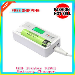 Wholesale Soshine Lcd Universal Charger - New Soshine SC-S7 18650 Battery Charger With LCD Display Universal Charger Adapter With USB Input For Charge Li-ion 18650 14500 battery