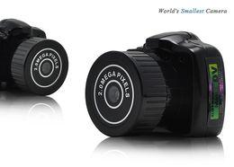 Wholesale Worlds Smallest Digital Camera - Mini Camera Y2000 HD Pocket Mini DV Webcam digital video Recorder Micro Cam Smallest Camara in the world Spy Hidden Mini Camcorder black