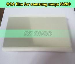 Wholesale Oca Optical Clear Adhesive - 250um OCA Optical Clear Adhesive Film For Samsung mega i9200 Mitsubishi LCD Screen Sticker Tape Repair Sheet 100pcs lot
