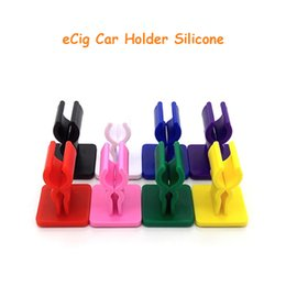 Wholesale G5 Twist - 20pcs ecig car clip holder silicone base E Cigarette display with sticky bottom for ego twist g5 battery holder