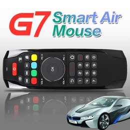 Wholesale Tablet Fly - Smart Air Fly mouse G7 2.4GHz Air Keyboard Mouse TV Boxes Remote Control with IR Learning Function for Android Box Tablets Xbox