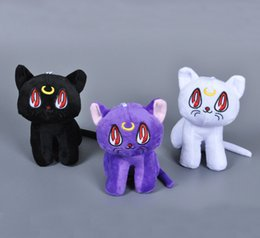 Wholesale Sailor Moon Cats Stuffed Animals - 6'' 15cm Anime Sailor Moon Cat Luna Artemis Stuffed Animals Plush Doll Soft Toys for kids Cartoon Movies & TV Sailor Moon 2016 Hot Toy 15pcs