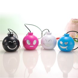 Wholesale Laptop Minis Prices - Funny Face Mini Surround Speakers Fancy Design Best Laptop Speakers Promotion Price Good Sound Quality Computer Speakers SY001