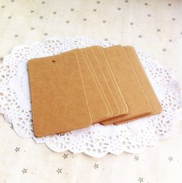 Wholesale Garment Labels Wholesale - Wholesale- Kraft Paper Lable Vintage Gift Garment Hang Tag With Cord Price Label Luggage Packaging Tag Label