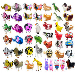 Wholesale Pet Balloon Wholesale - Walking Pet Animal Helium Aluminum Foil Balloon Automatic Sealing Kids Baloon Toys Gift For Christmas Wedding Birthday Party Supplies