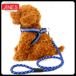 Wholesale Pet Supplies Reflective Dog Collar - Pet Dog Nylon Adjustable Training Lead Dog Strap Rope Traction Pet Harness Collar Leash Reflective Pet Supply High-Quality
