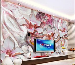 Wholesale Fish Paper Roll - Papel de parede Magnolia nine fish Figure jade TV backdrop mural non-woven wallpaper customize size Free fast shipping 7015
