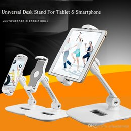 Wholesale Rotating Tv Stands - 360° Rotating Universal Desk Stand For Tablet & Smartphone Flexible Full Motion