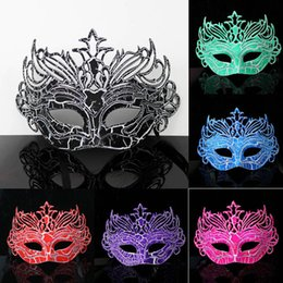 Wholesale Crown Spray Paint - 6colors Fashion Crack crown mask surface spray paint baron prince dance masks Halloween Costume Party Masks
