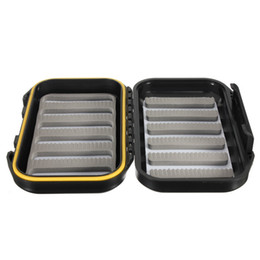 Wholesale Fly Fishing Box Case - Hot Durable High Quality ABS Plastic Foam Fly Fishing Tackle Lure Bait Hook Storage Case Cover Box Waterproof Fish accessories