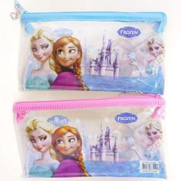 Wholesale Wholesale Princess Pencil Case - 18pcs lot Frozen Pencil Cases Queen Elsa and Princess Anna Stationary School Pencil Case For Girls Free Shipping (80052)