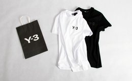 Wholesale shirt y - top quality KANYE WEST Orange box flocked short-Sleeved Y 3 T-Shirt Men tops tee T Shirt
