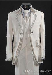 Wholesale Designer Suit Groom Men - Wholesale-new Fashion suits men complete designer dress future bride and groom wear a suit Groom Tuxedos