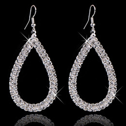 Wholesale Top Crystal Earings - Jewellery Stores Top Quality Selling Fashion Design Big Crystal Earings 2016 For Women Bridal Brand Jewelry 2016 E197