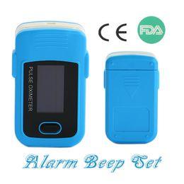 Wholesale Oxygen Saturation Monitor Alarm - New Upgrade Alarm Setting!Health care FDA CE OLED Blood Oxygen SpO2 Saturation Oximetro Finger Pulse Oximeter PR Monitor Blue
