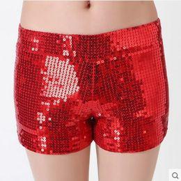 Wholesale Black Sequin Leggings L - Fashion Stage Wrear Sequin shorts Women Thin Mini Shorts Leggings M,L