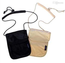 Wholesale Travel Pouch Money Belt - PY063 Mini Slim Messenger Bags Coin Purse Security Hidden Travel Wallet Pouch Money Belt Passport Holders Change Leisure Waist
