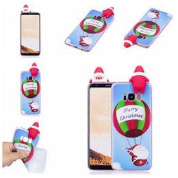 Wholesale Iphone Christmas Santa Case - Fashion Christmas Style Phone Cases with 3D Santa Claus PaPa Soft TPU Phone Cover For iphone X 8 7 6 6S Plus