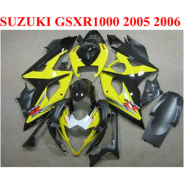 2019 carenado gsxr amarillo Carenados de precio más bajo para SUZUKI 2005 2006 GSXR1000 K5 K6 negro amarillo GSX-R1000 05 06 GSXR 1000 kit de carenado TF96 carenado gsxr amarillo baratos