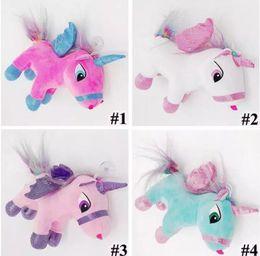 Wholesale Cartoon Pendent - 4 Colors 20cm Creative Unicorn Doll Cute Unicorn Plush Toy Cartoon Unicorn Pendent Cartoon Accessories Kids Xmas Gifts