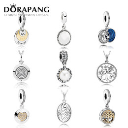 Wholesale Pearl Tree - DORAPANG 925 Sterling Silver Family Tree Crystal Pendant Pearl Charms Beads collocation Bracelet DIY bracelet Wholesale factory