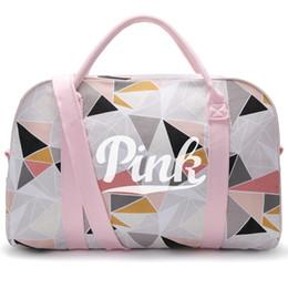 Wholesale Girl S Handbags - Fashion Women Love V S Pink Brand Handbags Large Capacity Travel Duffle Canvas Bag Beach Bag Shoulder Bag TOP1431