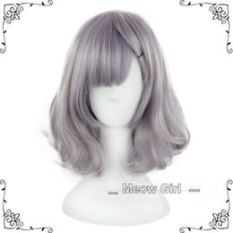 Wholesale Cosplay Wigs Lolita - Cute Harajuku Lolita Wig Smoke Grey Full Long Cruly Hair Short Cosplay Gradient