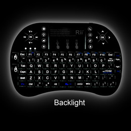 Wholesale Wireless Mouse For Htpc - Wholesale-2.4GHz Rii Mini i8+ Wireless Backlight Keyboard With Touchpad Teclado Mouse Combo For PC, HTPC, Smart TV, Android TV Box