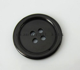 Wholesale Big Savings - 300pcs SALE SAVE medium Big Black Resin Buttons - 25mm 4 holes edged