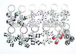 Wholesale Key Panda Free Shipping - Wholesale brand new 20pcs alloy Cartoon cute Baby Panda key chain Free shipping