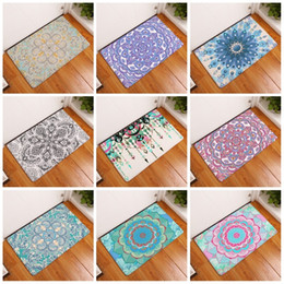 Wholesale Pvc Bath Mats - Geometry Pattern Footcloth Many Styles Water Uptake Flannel 3D Bath Mats Non Slip Bathroom Toilet Kitchen Rugs 9 8xrg C
