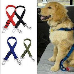 Wholesale Harness Safety Car Dogs - 500pcs New Dog Pet Car Safety Seat Belt Seat Clip Seatbelt Harness Restraint Lead Adjustable Leash Travel Collar