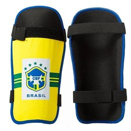 Wholesale Youth Pads - Wholesale- New Youth Soccer Shinguards Sock Lite Shin Guard Slip Shield Black Small 7284