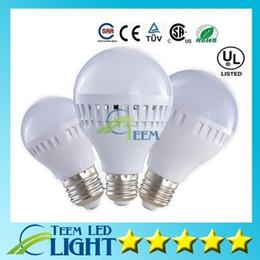 Wholesale downlight globe - Super Bright Led Bulb 3W 5W 7W 9W LED Globe Bubble Lamp 110-240V E27 Led down Lighting 180 anlge Led light Downlight
