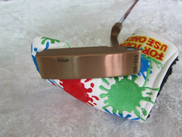 Wholesale Top Golf Putters - 2017 TOP quality golf clubs copper tour 350 golf putter with headcover and shaft golf clubs free shipping