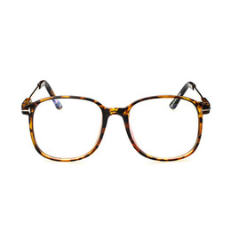 Wholesale Large Clear Glass - Wholesale-D women's optical glasses frame eyeglasses large Metal optical frame clear glasses prescription eyewear color high quality
