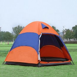 Wholesale Large Tents For Camping - Outdoor Large Capacity Beach Folding Double Layer Water-proof Double Tents Camping Travel Tents for 3-5 People MA0126 kevinstyle