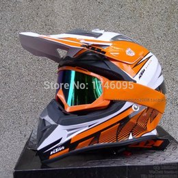 Wholesale Casco Motocross - Wholesale motocross racing helmet casco capacete motorcycle safe cap with goggles DOT APPROVED