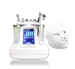 Wholesale Oxygen Jet Facial Machines - Portable 7 in 1 Water Oxygen Jet Peel Hydra Dermabrasion Ultrasound RF Bio-lifting Cold Hammer 7 Colors LED Facial Mask Spa Facial Machine