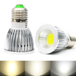 Wholesale 6w E27 Cob - New COB 6W 9W 12W Led Spotlights Lamp 120 Angle GU10 E27 E26 GU5.3 MR16(12V) Dimmable Bulbs lampWarm Cool White DC12V AC110V 220V CE ROHS UL